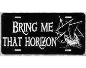 Pirates of the Caribbean License Plate Bring Me That Horizon Car Tag