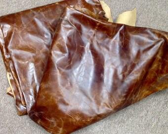 6-863.  Distressed Brown Leather Cowhide