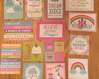 Doodlebug FAIRY TALES project life cards - set of 14