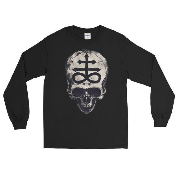 Skull with Leviathan Cross Long Sleeve T-Shirt