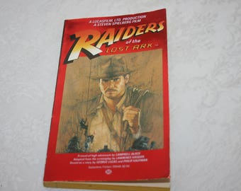 """Vintage Paperback """" Raiders of the Lost Ark """", by Campbell Black Movie Motion Picture, Harrison Ford, Steven Spielberg, George Lucas 1981"""