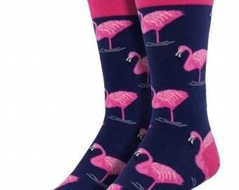 Mens Flamingo Socks