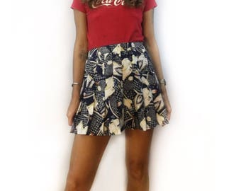 Vintage 70s 80s high waist tennis mini skirt // one of a kind oaak scooter skirt // prep retro athletic wear  // fall back to school