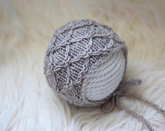 Knitting Pattern, Knit PDF Pattern,  Newborn Hat Pattern, PHOTO shoot prop,  Knit, Tutorial, PDF, Newborn hat, Jayden Bonnet