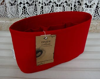Ready to ship / Purse ORGANIZER Insert Shaper / Red / Size SMALL / 10.5 x 3.5 x 6H oval / STURDY & Durable / Choice of bottom type
