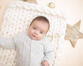 White Baby Blanket Christening Baby Present