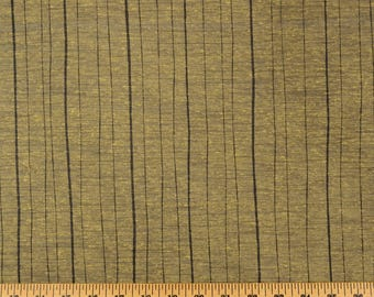 Black Gold Striped Polyester Curtain Fabric