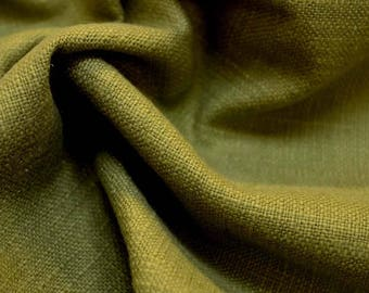 REMNANT Green Textured Upholstery Fabric 55 inches x 1 yard