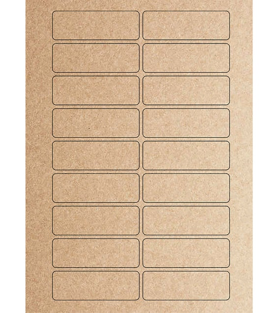 Blank or Custom Printed Stickers-  3 x 1 inches in Kraft Brown, Cream or White - Set of 18 labels per sheet  - Address Labels, Logos