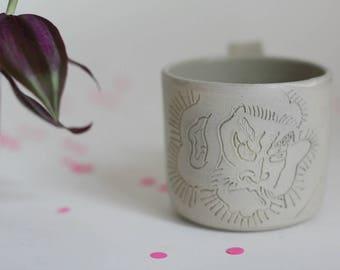 Japanese samurai tattoo mug - stoneware mug