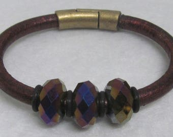 Regaliz Bracelet ~ With Beads ~ 6 3/4""