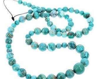 20% Off Sale : ) FOX MINE AMERICAN Turquoise Beads 5-10mm New World Gems