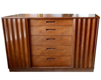 ON SALE Edward Wormley Chest Designed for Dunbar with Sliding Front Doors, circa 1950s