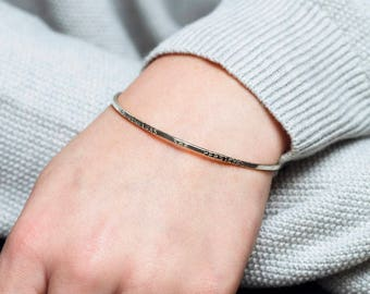 Nevertheless she persisted bangle, inspirational bracelet for daughter, goddaughter, sister, inspirational quotes jewelry -Gracie