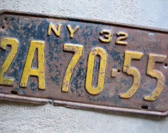 1932 New York License Plate