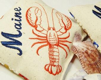 Balsam Pillow, Lobster, Nautical, Maine Balsam Sachet, Maine Organic Balsam, Maine