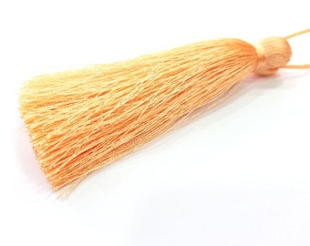 Apricot Orange Tassel Large Thick 113 mm - 4.4 inches G8056