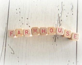Farmhouse Sign Vintage Wooden Game Cubes