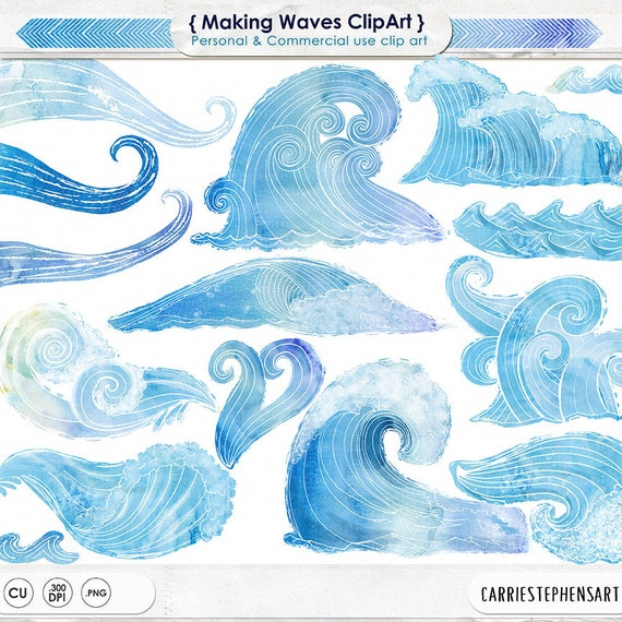Under The Sea Download PNG Graphics Blue Water Illustrations Nautical Travel Ocean Wave Summer Beach Digital ClipArt Commercial Use