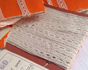 Antique Laces, Vintage Lace Trim/ Off White Trim / Vintage Wedding, Dolls & Bears/10m /Home Furnishings / Old New Stock!
