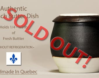 SOLD OUT!  Contact me to reserve one in the next firing.  French Butter Dish, French Butter Dish, Beurrier Breton, Butter Dish