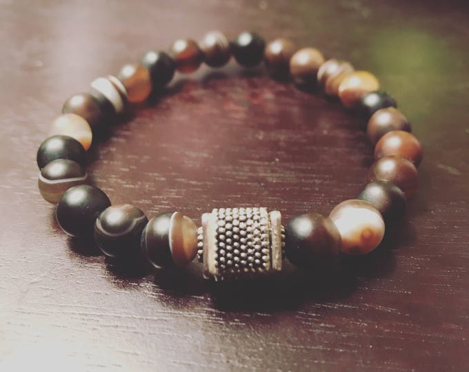 Men's Agate Block Bracelet