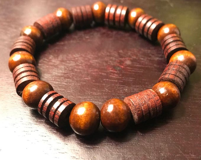 Men's Chocolate Wooden Bracelet