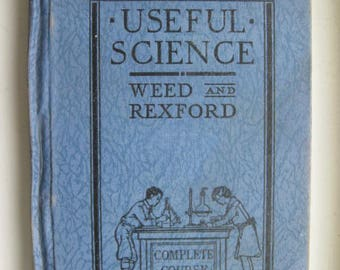 Antique 1933 Useful Science Book