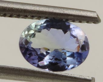 1.1 cts Flawless brilliant tanzanite faceted oval cut Tanzania