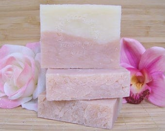 Honeysuckle Soap Olive Oil Cold Processed Soap All Natural and Vegan Soap Honeysuckle Flowers