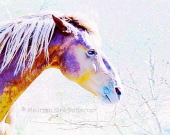 Nursery horse print, stylized horse, farm animal print, equine art print, horse nursery print, modern nursery print, nursery decor, ethereal