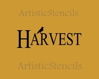 STENCIL  Harvest with crow 10X4