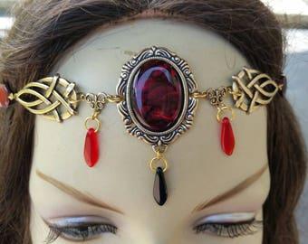 Sanguine Circlet of the Vampire Maiden bridal Gothic priestess elven renaissance