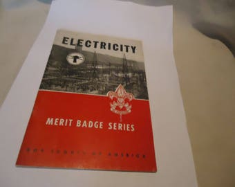 Vintage 1956 Electricity Boy Scouts of America Merit Badge Series Booklet, collectable