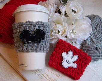 Crochet Coffee Cup Cozy ~ Mouse Glove Mouse Ears