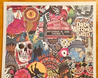 DMB Collage limited edition print - Live 25 *Note this is an offset print not a screen print