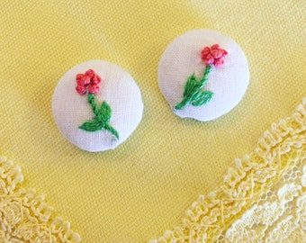Vintage Linen Earrings