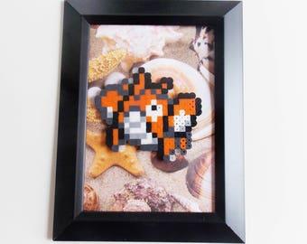 Corphish (Pokemon) Framed Pixel Sprite Room Decoration Art *Clearance*
