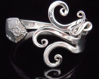 Silver Fork Bracelet in Original Fancy Design Number Seven