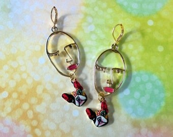 A Girl and Her Dog Earrings (3940)
