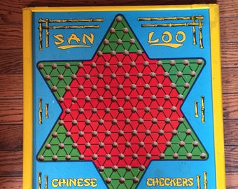 Vintage San Loo Northwestern Products Chinese Checkers Game