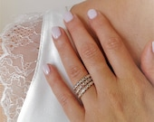 Delicate Ring Set, 925 Si...