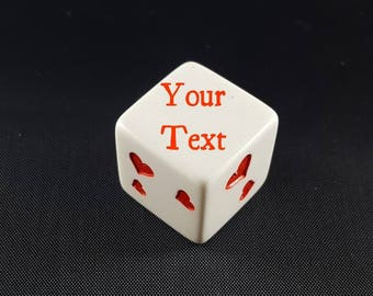 Custom Dice With Your Choice of Pips - Personalized D6