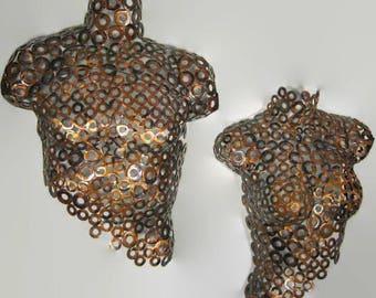 Metal Wall Art metal torso abstract Metal Sculpture Nude Torso by Holly Lentz
