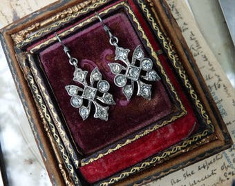 Antique Victorian Paste Earrings, by RusticGypsyCreations