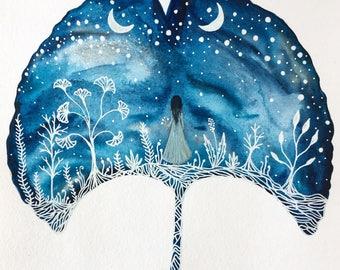 Original Painting // Maya and the Milky Way Galaxy