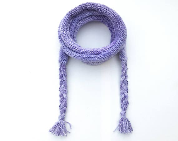 Lilac Spaghetti Scarf - Light Purple Thin Scarf - Mauve skinny scarf - Lavender Scarf - Spring scarves - Light purple scarf - lilac lavender