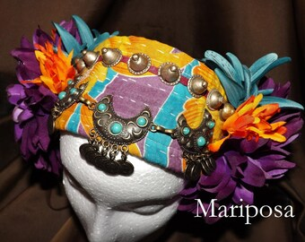 ATS Tribal Fusion Belly Dance Headpiece, Mariposa
