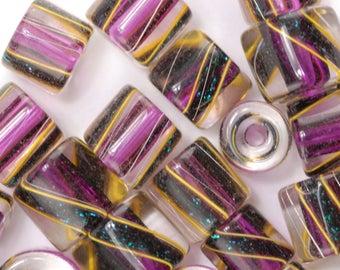 Cranberry Sparkle David Christensen Furnace Glass Beads (128)