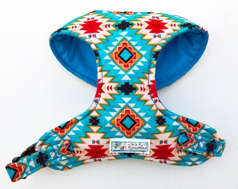 SputhWestern, Aztec Comfort Soft Dog Harness - Made to Order -